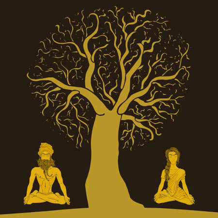 breathing exercise: meditation under a tree