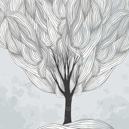 winter tree: Tree. Winter. Snow. Background. texture