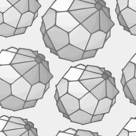geometric bead black and white Vector