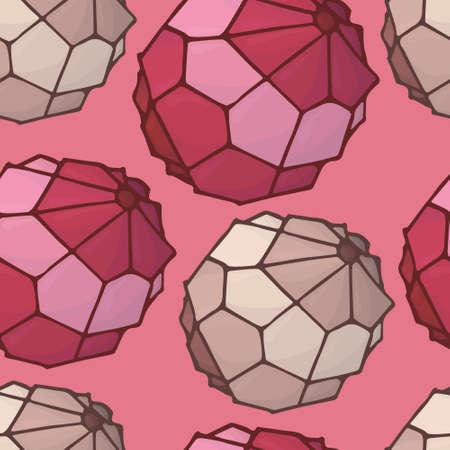birthstone: geometric bead red