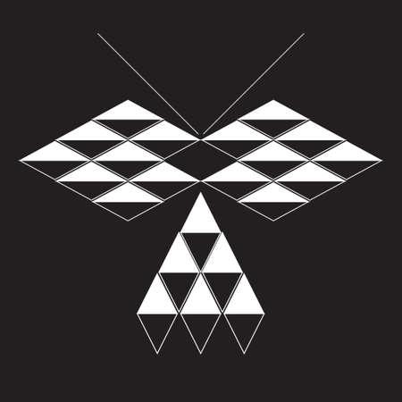 butterfly. geometriyayu rhombus Vector