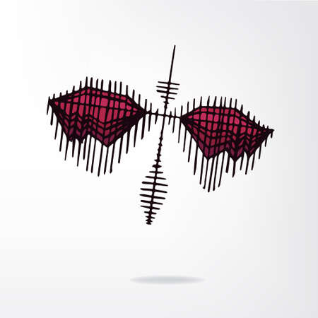 crimson: crimson butterfly Illustration