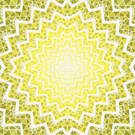chipped: flower geometry pattern yellow
