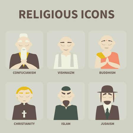 religious icons 向量圖像
