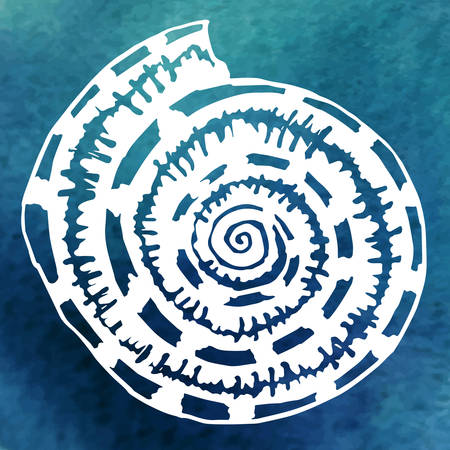 shell in the ocean Vector