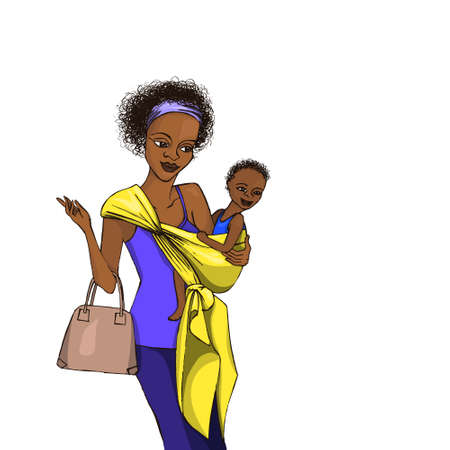 Woman with a sling Illustration