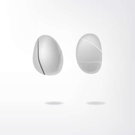 shingle: white stones