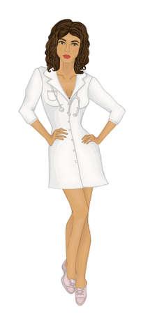 woman doctor. pediatrician