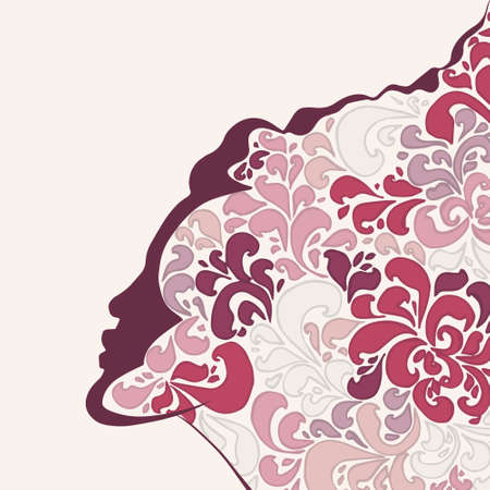 woman in love flower Vector