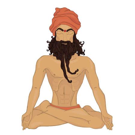 pranayama: yoga pranayama man (Hindu)