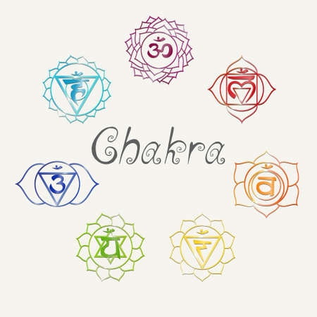 spa therapy: Yoga. Energy centers. Chakra