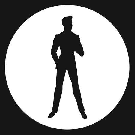 agent de s�curit�: l'homme. silhouette. James Bond