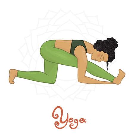 hatha: Womens Yoga Ardha Trikonasana (Hatha yoga)