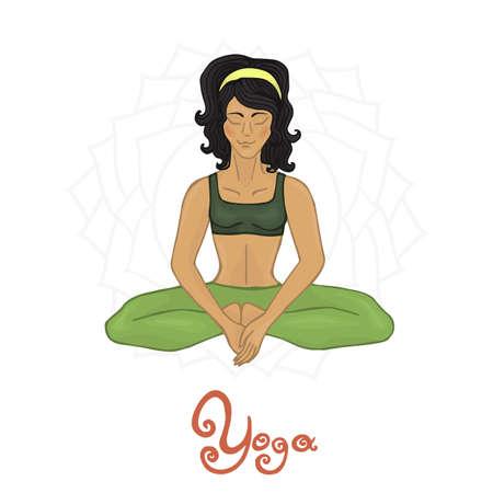 baddha: Womens Yoga Baddha Konasana (Hatha yoga)