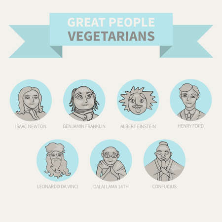 Great people - vegetarians. Vegetarianism. Icons (avatar)
