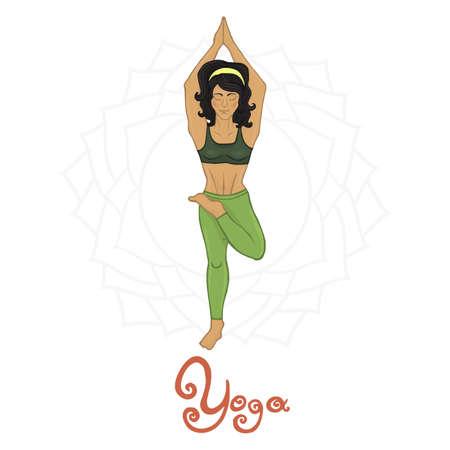 hatha: Womens Yoga Ardha baddha padmottanasana (Hatha yoga)