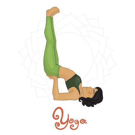 Womens Yoga Viparita Karani (Hatha yoga) Illustration