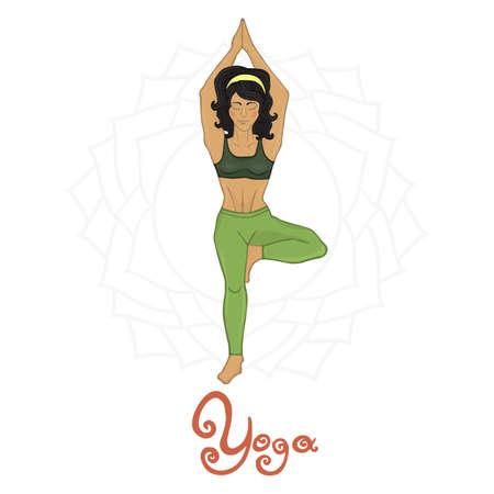 hatha: Womens Yoga Vrikshasana (Hatha yoga)