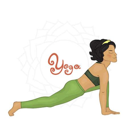hatha: Womens Yoga Andzhanasana (Hatha yoga)