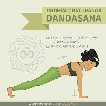 hatha: Yoga infographics Urdhva Chaturanga dandasana (Hatha yoga)