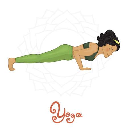hatha: Womens Yoga Chaturanga dandasana (Hatha yoga)