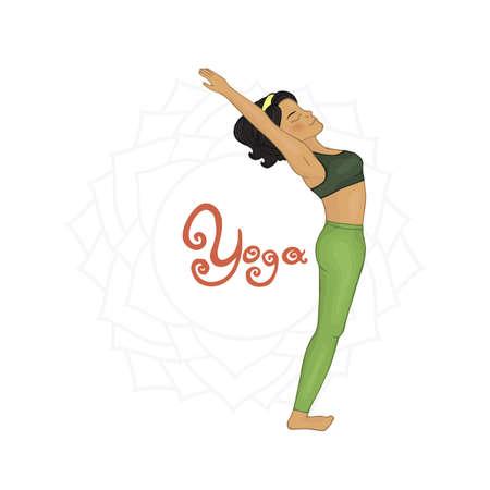 hatha: Womens Yoga Hasta uttanasana (Hatha yoga)