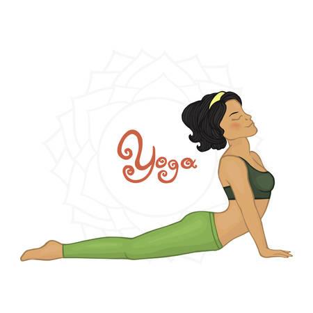 hatha: Womens Yoga Urdhva mukha shvanasana (Hatha yoga) Illustration