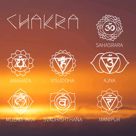 muladhara: Chakra (background sunset sky) energy