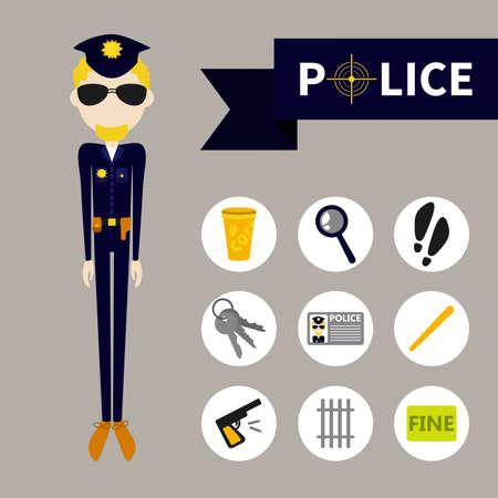 burglar proof: Police (9 icons) flet style