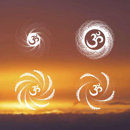 sunset sky: Yoga (background sunset sky) 1.2