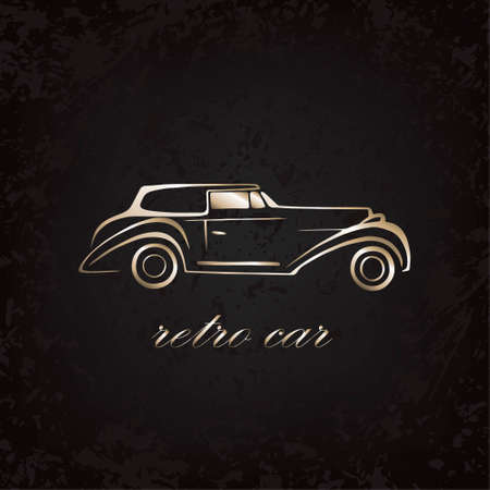 Retro gold car. Background texture. Can be used for your automotive business