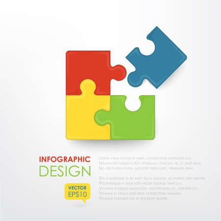 Kleurrijke puzzel. Zakelijke component. Het beeld kan worden gebruikt voor uw bedrijf, presentaties, projecten, promotie