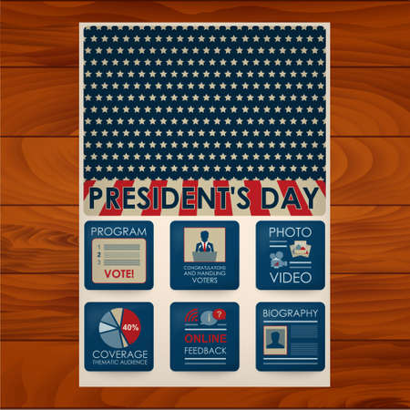 george washington: Presidents day. The image can be used for your business, presentations, projects, promotion Illustration