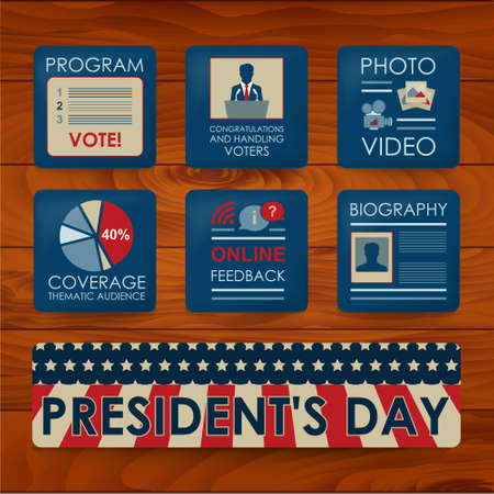 george washington: Presidents day icon. The image can be used for your business, presentations, projects, promotion Illustration