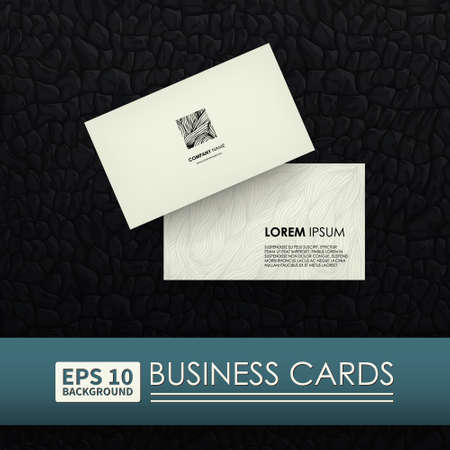 be the identity: Business cards. Corporate Identity. Logo zebra. Layouts can be used to represent your business.