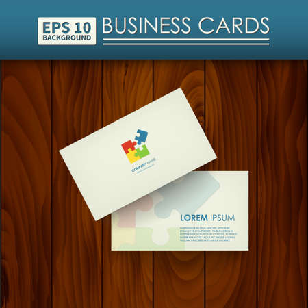 be the identity: Business cards. Corporate Identity, logo puzzle. Layouts can be used to represent your business.