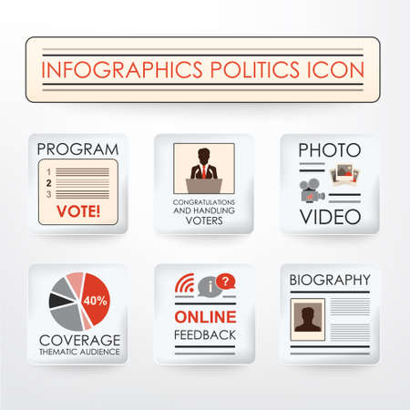 george washington: Infographics politics icon (newspaper). The image can be used for your business, presentations, projects, promotion Illustration