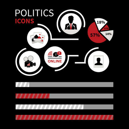 wi: Infographics politics icon (silhouette). The image can be used for your business, presentations, projects, promotion Illustration