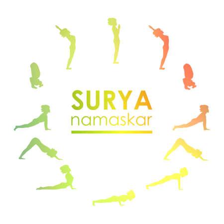 namaskar: Yoga postures practice Surya Namaskar