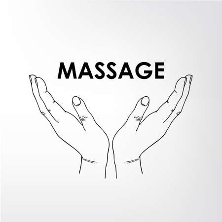 medical center: massage parlor. The image can be used for printing cards and posters, as backgrounds, advertising for massage salon, medical center