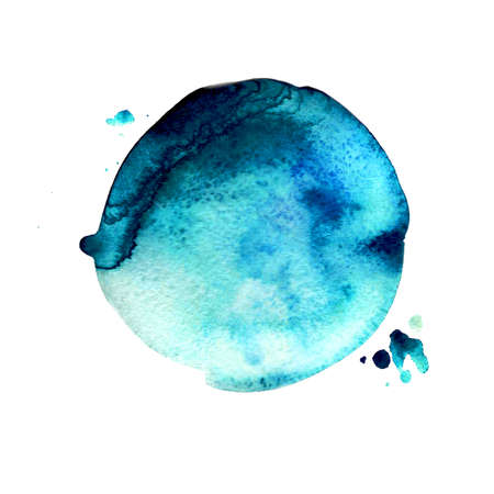 Watercolor stain. The image can be used in the design of the element, as well as the constituent part of the logo Stock Photo