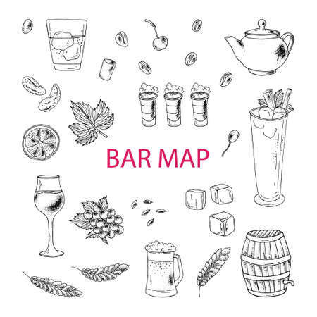 The image can be used to design the menu of cafes, restaurants, shops