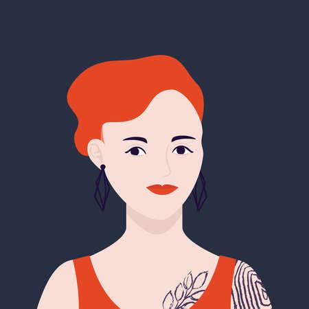 girl profile on isolated background