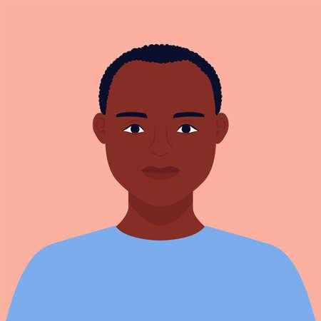 man profile on isolated background