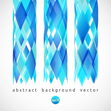 rhomb: Vector abstract background of blue diamonds. Illustration with rhomb.