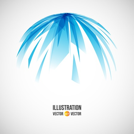 pane: Vector abstract background of blue fragments. Illustration of triangles Illustration