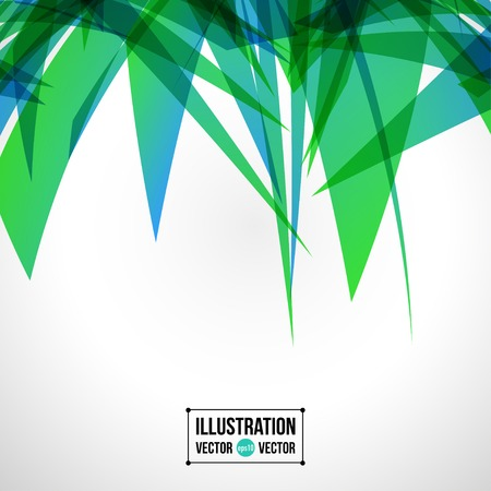 shatter: Vector abstract background of green fragments. Illustration of triangles Illustration