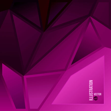 Vector abstract background of purple triangles Vector