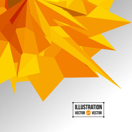 fragments: abstract background of yellow fragments. Illustration of triangles