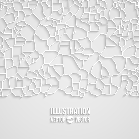fragments: Vector abstract background of gray fragments flat style. Mosaic illustration